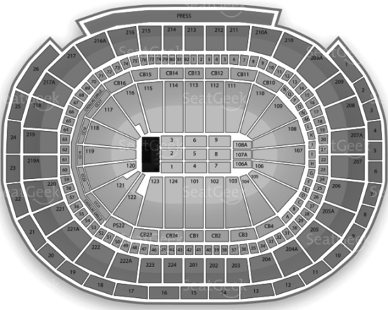 Wells Fargo Center Seating Chart Rolling Stones