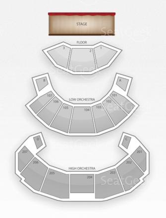 Harrah's Resorts and Casino Seating Chart