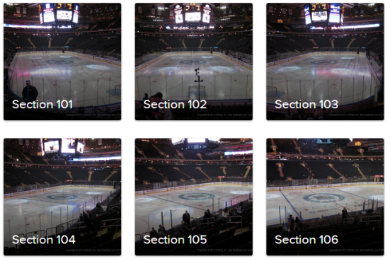 example madison square garden seat views stanley cup