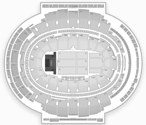 msg seating chart