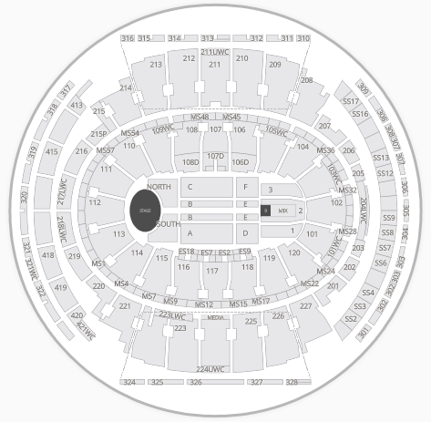 Msg Seating Capacity By Event